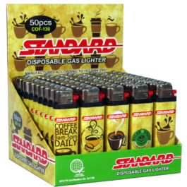 Standard Disposable Gas Lighter, Box of 50 | Coffee Art