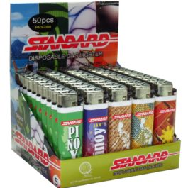 Standard Disposable Gas Lighter, Box of 50 | Pinoy Design