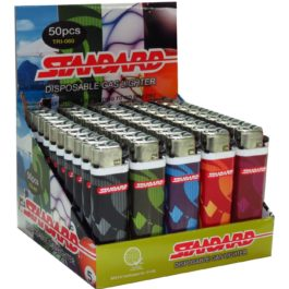 Standard Disposable Gas Lighter, Box of 50 | Tribal Design