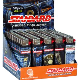 Standard Disposable Gas Lighter, Box of 50 | Denim Jeans