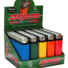 Standard Disposable Gas Lighter, Box of 50   Solid Color