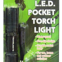 Travelmate L.E.D. Pocket Torchlight | Black