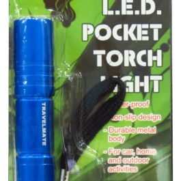 Travelmate L.E.D. Pocket Torchlight | Blue