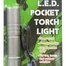 Travelmate L.E.D. Pocket Torchlight | Silver Grey