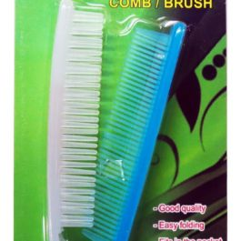 Travelmate Folding Pocket Comb or Brush | Blue