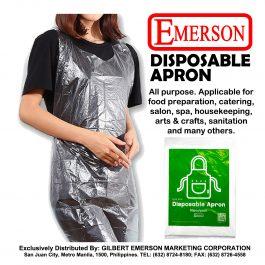 Emerson DISPOSABLE APRON (50pcs per pack)