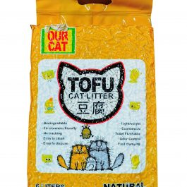 OUR CAT TOFU Cat Litter (6 Liters) – NATURAL