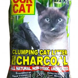 OUR CAT Clumping Cat Litter with CHARCOAL (12 kg)