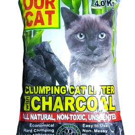 OUR CAT Clumping Cat Litter with CHARCOAL (4kg)