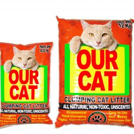 OUR CAT Clumping Cat Litter – UNSCENTED (4KG)