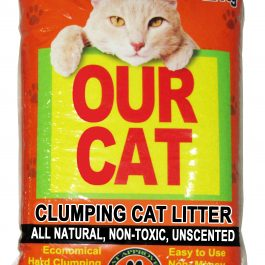 OUR CAT Clumping Cat Litter – UNSCENTED (12KG)